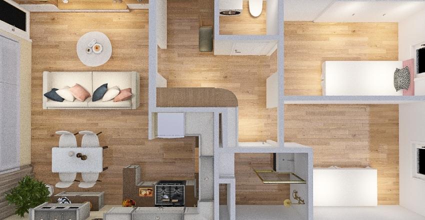 Mieszkanie rodziców Interior Design Render