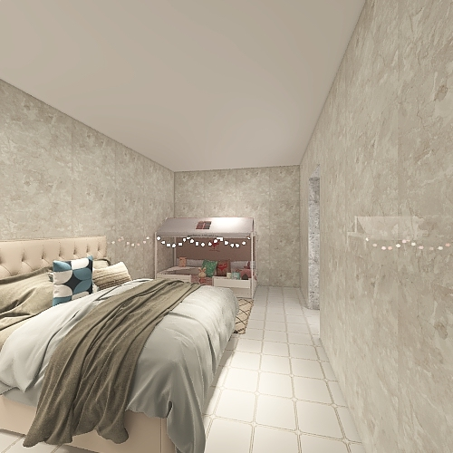 chic country house Interior Design Render