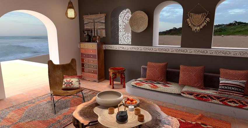 au Maroc Interior Design Render