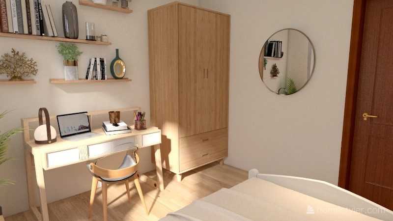 aesthetic bedroom  Interior Design Render