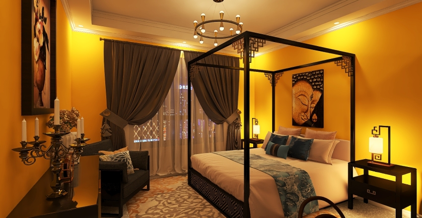 Ethnic beauty Interior Design Render