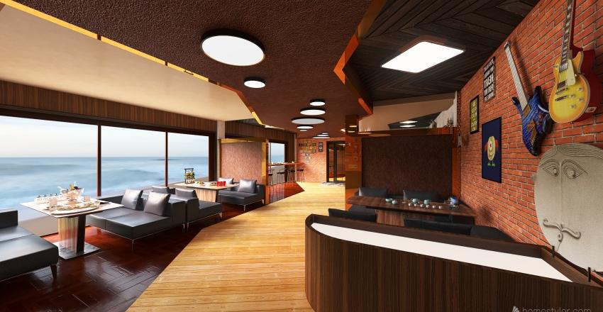Rock bar Interior Design Render