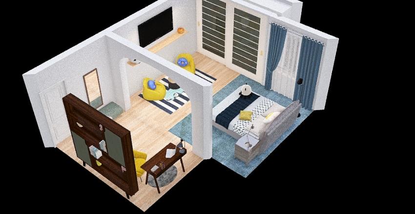 FINAL Turpin-TDJ2O1-Bedroom Floorplan Interior Design Render