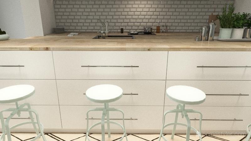 Grece style Interior Design Render