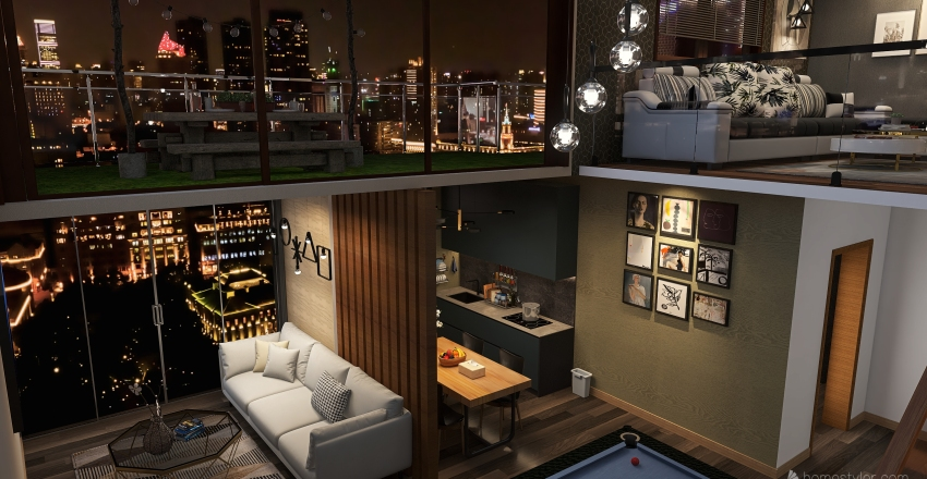 The VillaH Interior Design Render