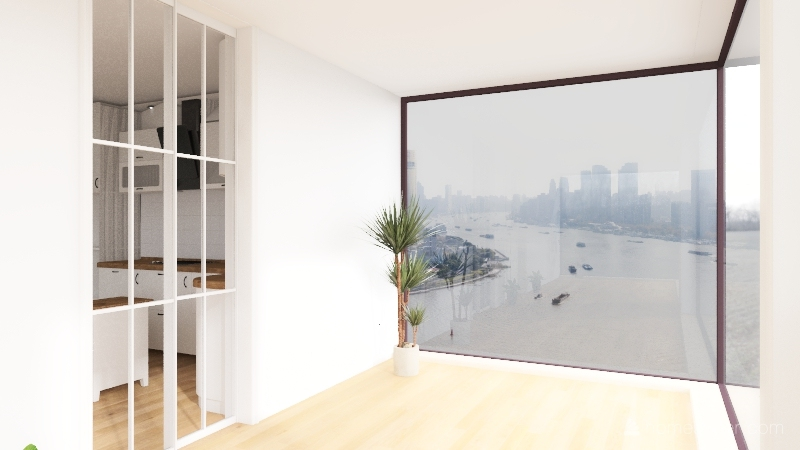 Modern, Industrial, & Cozy Home  3-17-2021 Interior Design Render