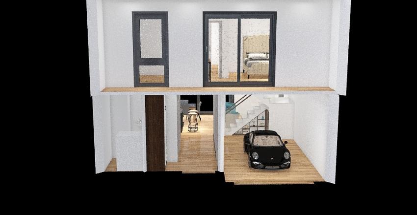 Skotniki 2.0 - wersja 2 - klatka do garderoby Interior Design Render
