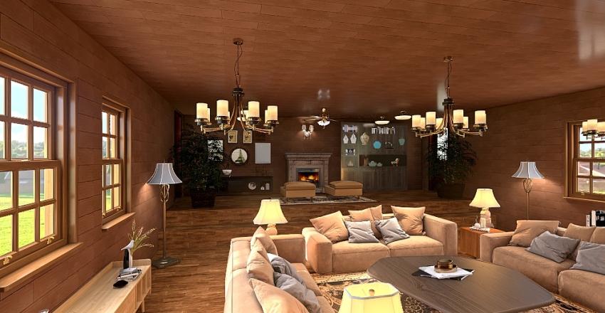 Pequeña casa de campo Interior Design Render