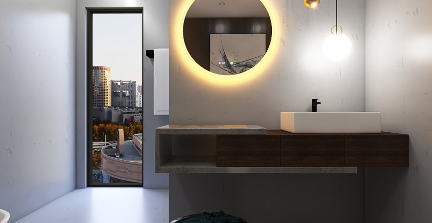 Little modern apartment Interior Design Render