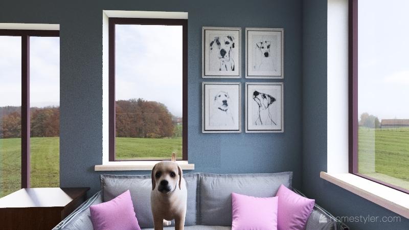 a small living Interior Design Render