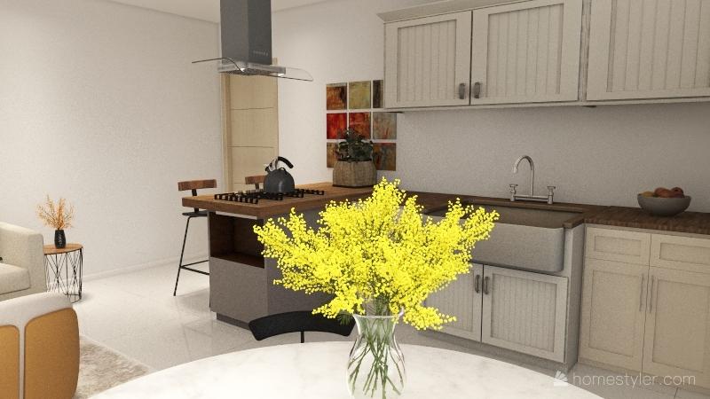 Projeto Casal 1 Interior Design Render