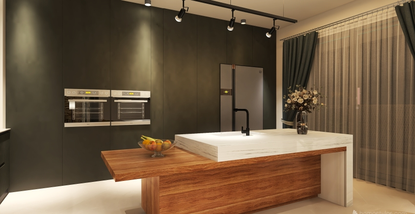 μοντερνα κατοικια Interior Design Render