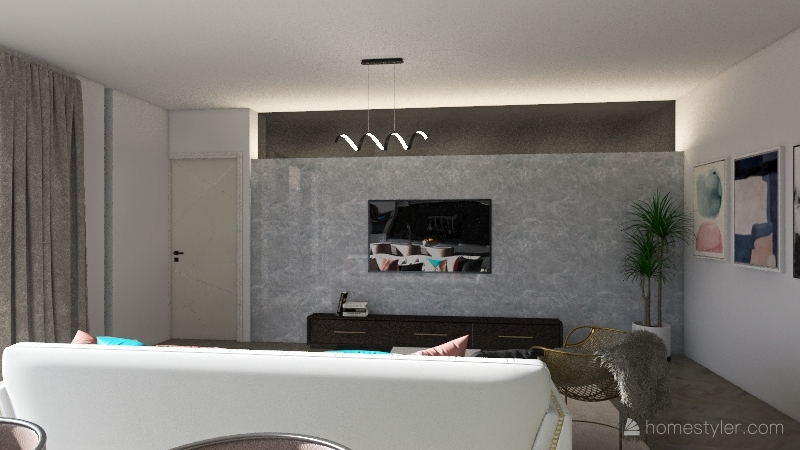 Copy of Apartament in Los Angeles Interior Design Render