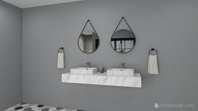 small NYC appartment Interior Design Render