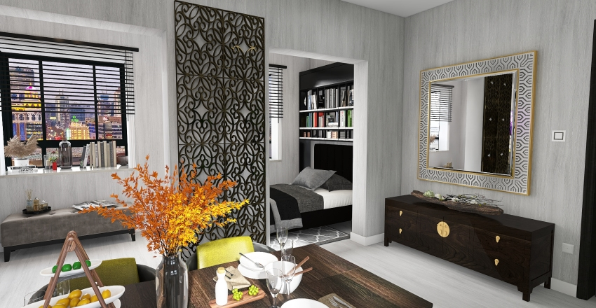 NYC  Small Appartment Interior Design Render