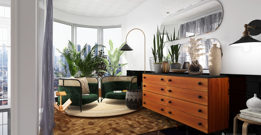 Enty way Interior Design Render