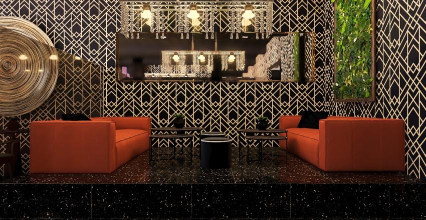 Luxury bar Interior Design Render