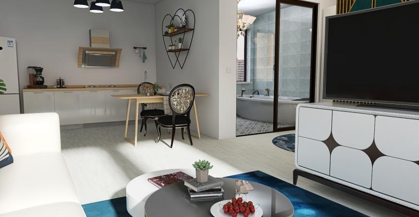 Modern house  In City Interior Design Render