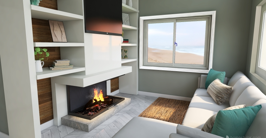 Beach cottage Interior Design Render