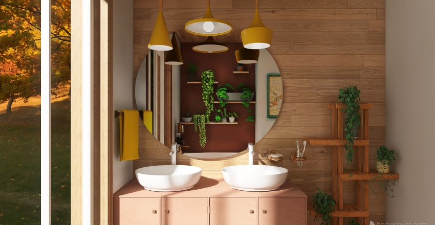 earthy artisan house. Interior Design Render