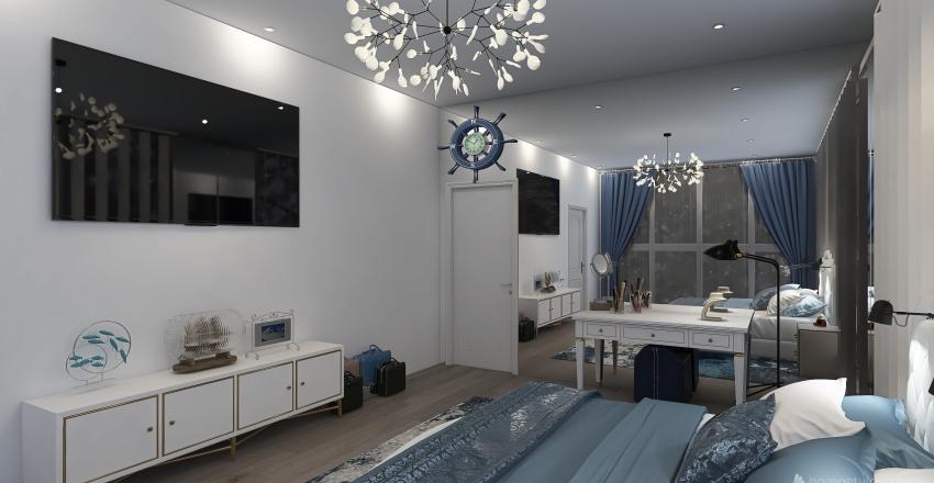 Modern Beach House Interior Design Render