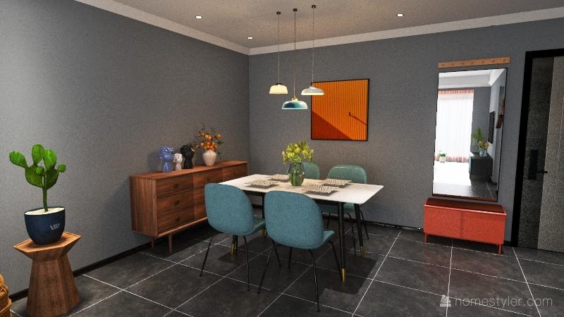 Modern Cheerful Palette Interior Design Render