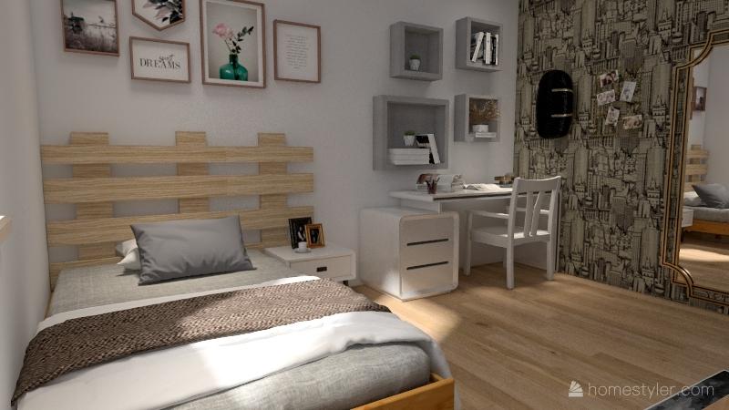 ideia do meu quarto Interior Design Render