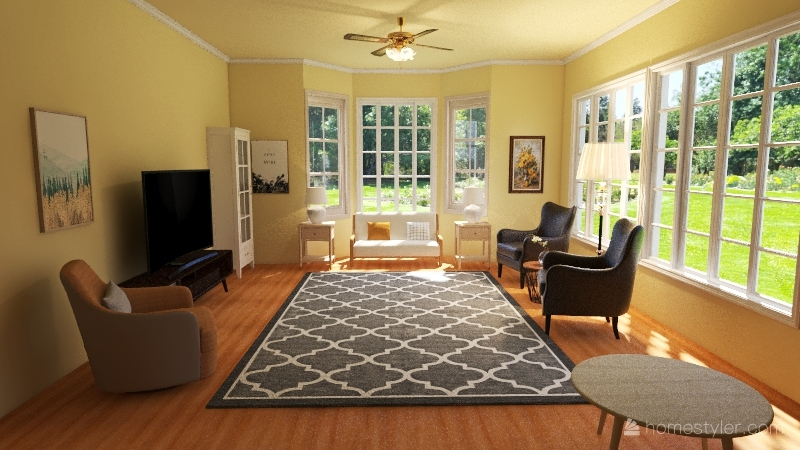 Various Living Room Designs Interior Design Render