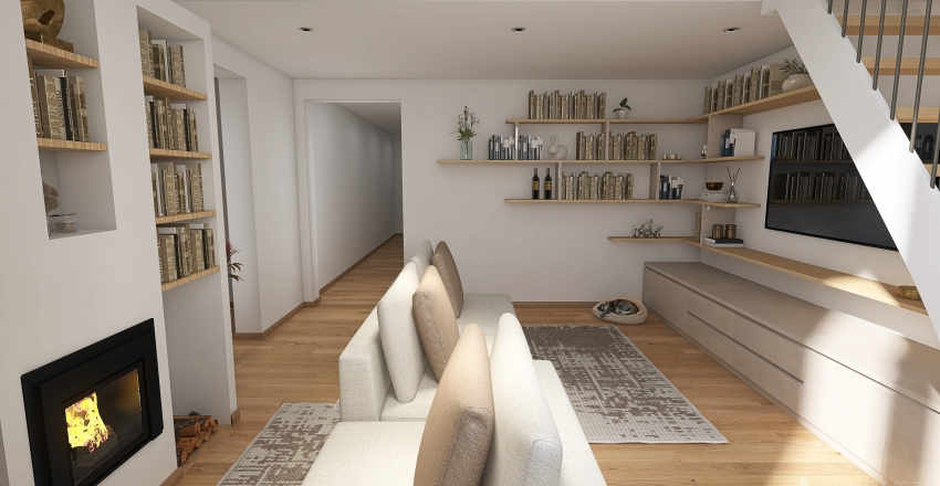 Rossi Home in The City of Art, Florence Interior Design Render