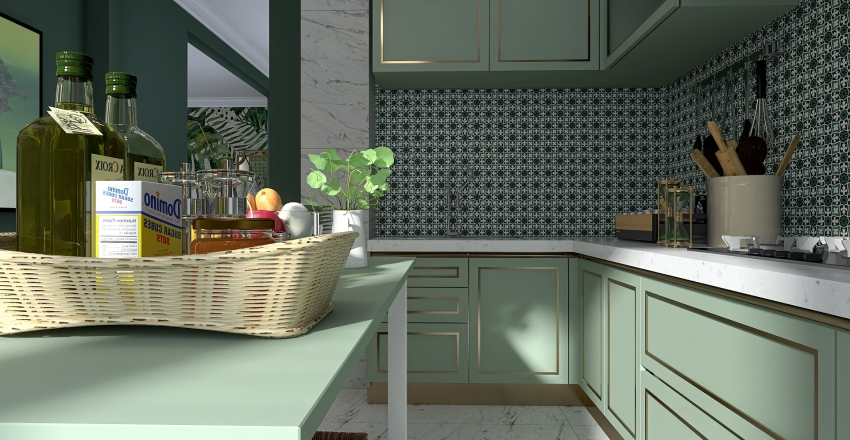 For the love of green. Interior Design Render