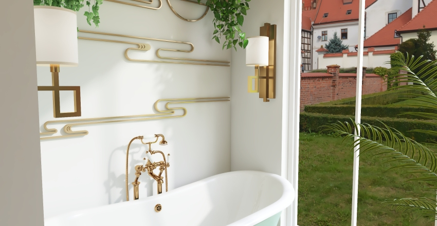 garden airbnb studio. Interior Design Render
