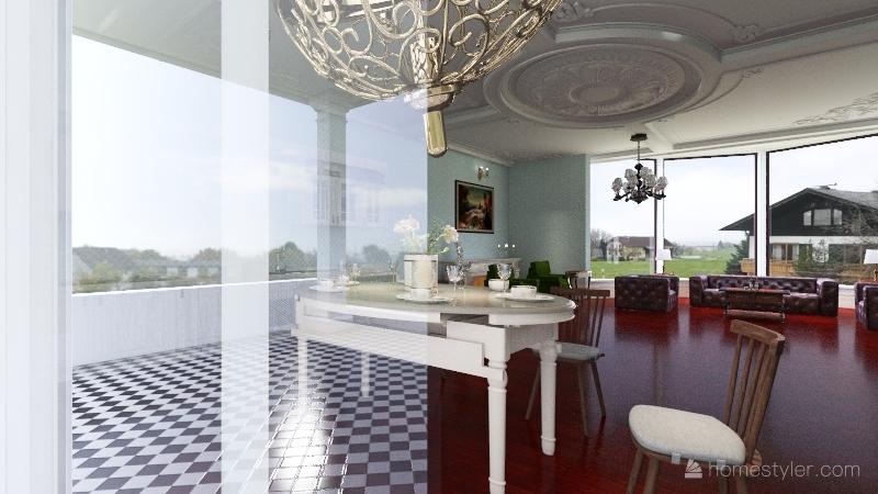 luxury 2 floor villa Interior Design Render