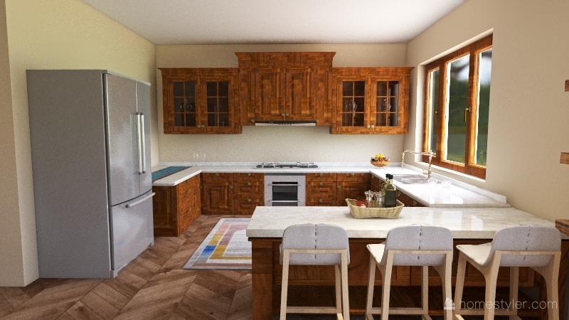 Wabi-Sabi Interior Design Render