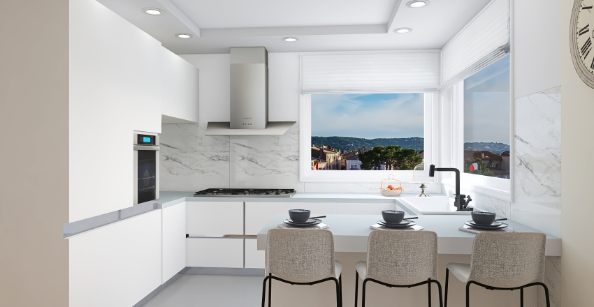 Home for three  Interior Design Render