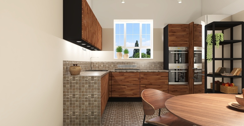 Color blocking Interior Design Render