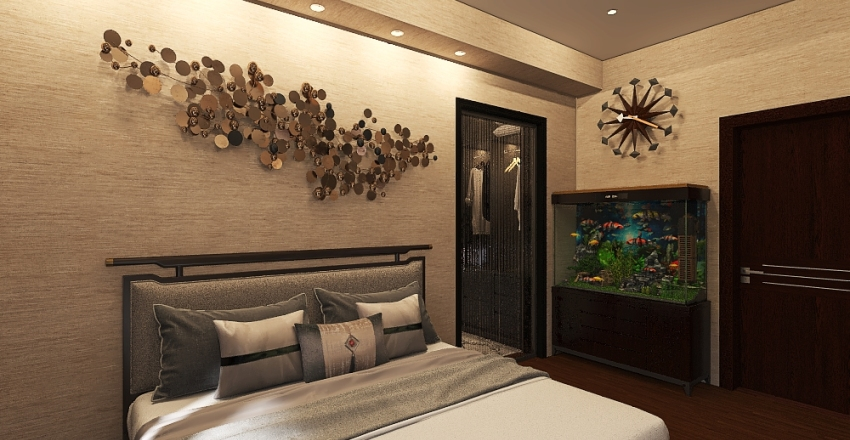High Ceiling Modern Villa Interior Design Render