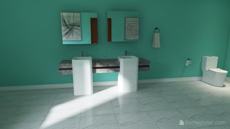 Small cottage Interior Design Render