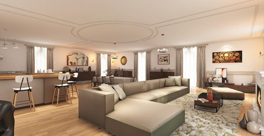 maison ausmanienne parisienne Interior Design Render