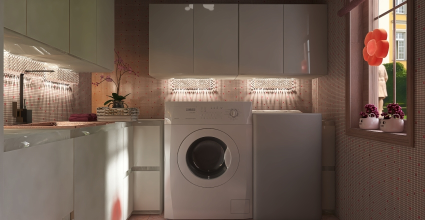 50 shades of pink Interior Design Render