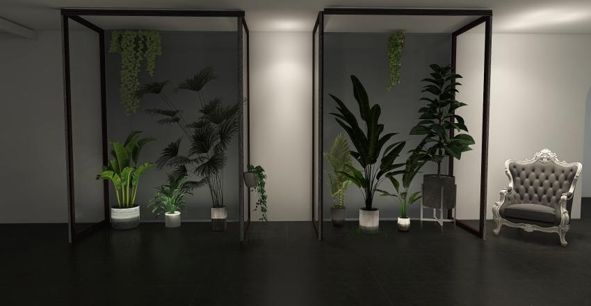 futuristic museum Interior Design Render
