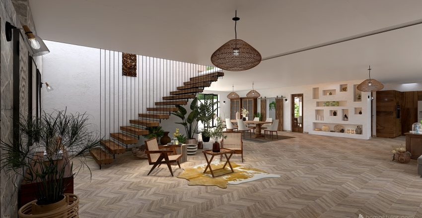 casa de campo Interior Design Render