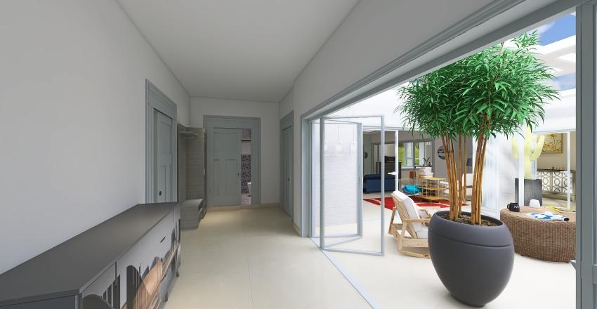Casa con cortile interno Interior Design Render