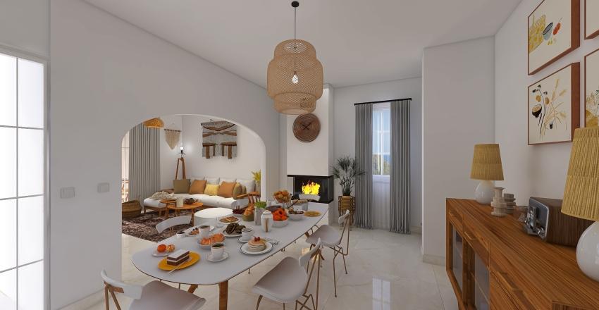 South villa on the coast Interior Design Render