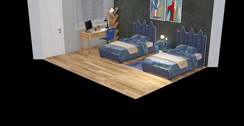 Bedroom Boys Interior Design Render