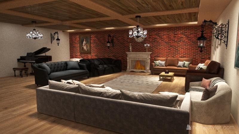 cozy not-so-little house Interior Design Render