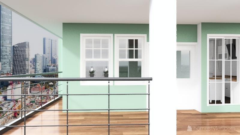 Cozy Green House  3-20-2021 Interior Design Render