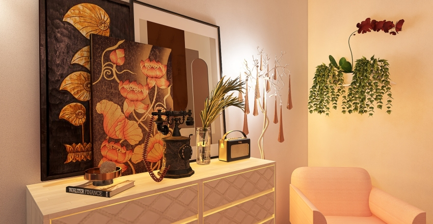 50 shades of pink Interior Design Render