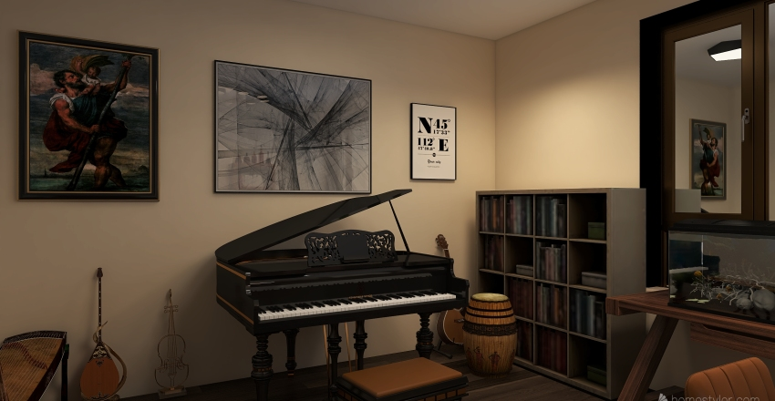Big-single-Loft Interior Design Render