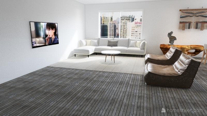 apartamento minimalista Interior Design Render