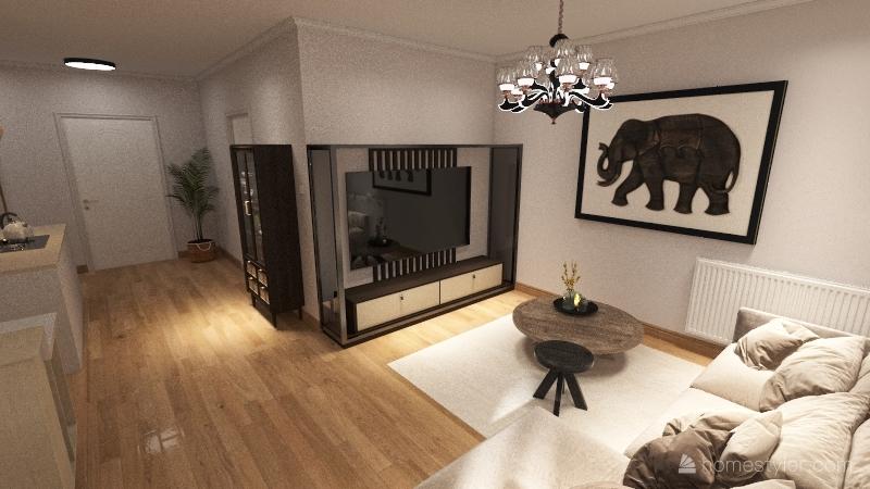 Mieszkanie Wilanów Interior Design Render